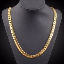 16-30 inch 18 Karat Gold plated 4 mm Party Club Link Chain Hip Hop Lobster Clasp Clavicle Necklace Figaro Necklaces