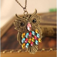 Fashion Owl Design Necklace