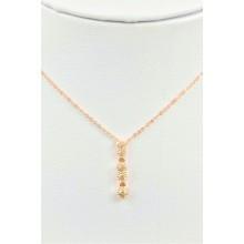 Five stone zircon necklace