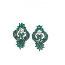 Ztech Big Bohemia Statement Dangle Drop Earring Wholesale Women Green Crystal Earrings For Women Party Good Quality Za Earrings
