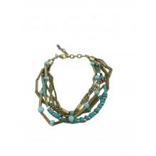 Bracelet With Brass Stone