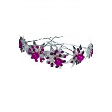 6 Pieces Hairpin Wedding Engagement Bridal Hair Accessories with Purple Pearls (Birthday-Valentine's Day-Mother's Day)