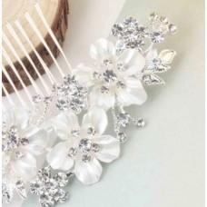 Handmade Pearl Wedding Engagement Bridal Crown (Birthday-Valentine-Mother-Day) Gift