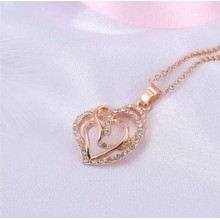 Love Heart Gold Color Necklace