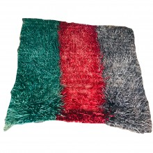 Natural Wool and Root Dye Hand Woven Mohair House Tulle (Home Gift-Decor-Traces of the Past) 120cm x 120cm