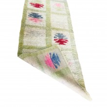 Natural Wool and Root Dye Hand Woven Home Tulle (Home Gift-Decor-Traces of the Past) 52cm x 138cm