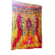 Natural Wool and Root Dye Handmade Woven Tulle (Home Gift-Decor-Traces of the Past) 152cm x 104cm