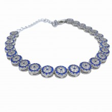 Zircon Evil Eye Beaded 925 Sterling Silver Women's Stylish Bracelet (Birthday-Valentine's Day-Graduation-Mothers Day) Gift