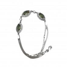 925 Sterling Silver Women's Elegant Bracelet with Zircon Stone (Birthday-Valentine-Graduation-Mothers Day) Gift