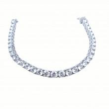 Square Zircon 925 Sterling Silver Women's Elegant Bracelet (Birthday-Valentine-Graduation-Mothers Day) Gift