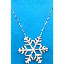 Snowflake Zircon 925 Sterling Silver Women's Aesthetic Necklace (Birthday-Valentine's Day-Graduation-Mothers Day) Gift