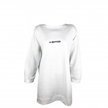 Women's White Sweatshirt