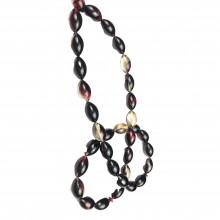 925 Sterling Imam Silver Engraved Handmade Crimp Amber Gift Rosary