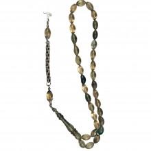 925 Sterling Imam Silver Engraved Handmade Fire Amber Gift Rosary