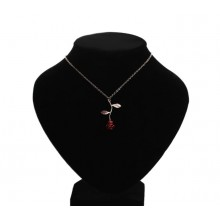 Delicate Handmade Alloy Red Rose Flower Pendant Necklace Beauty Gold Silver Plated Charm Valentine Gifts Women Jewelry Bijoux