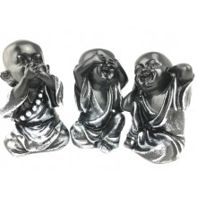 Three monkey playing trinity children set trinket