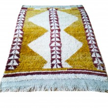 Natural Wool and Root Dye Hand Woven Home Tulle (Home Gift-Decor-Traces of the Past) 155cm x 106cm